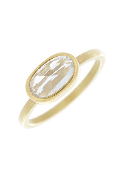Caroline Ellen - 20K Yellow Gold Zircon Stackable Ring