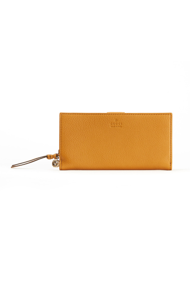 Continental Yellow Leather Wallet