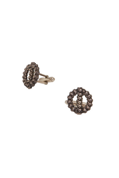 Catherine M. Zadeh - Sterling Silver Circle Weave Cuff Links