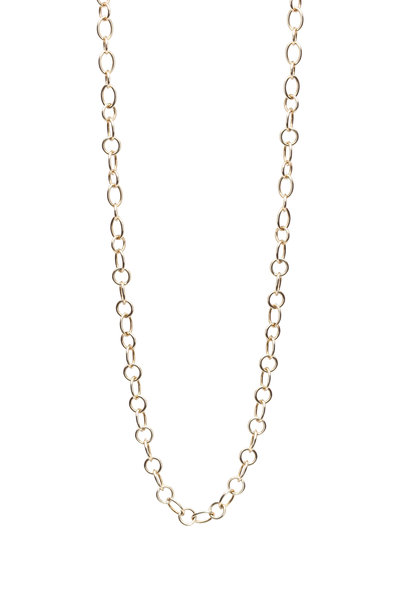 Temple St. Clair - Yellow Gold Ribbon Chain Necklace