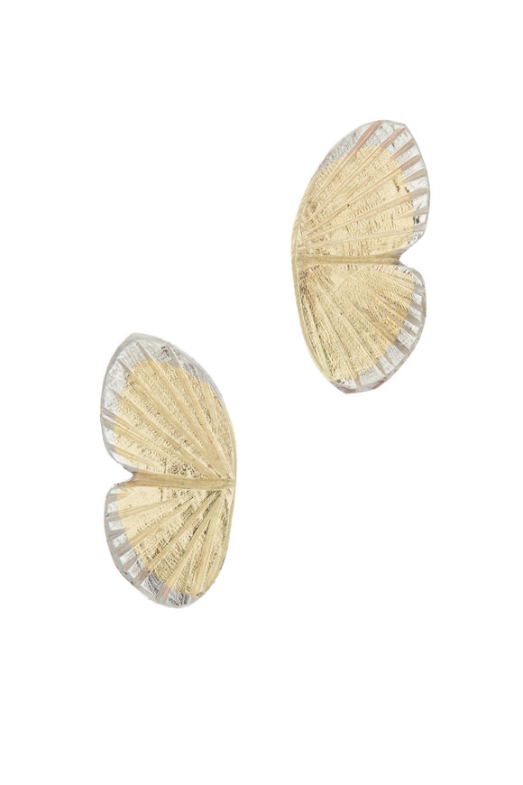 James Banks Gold Baby Asterope Butterfly Earrings