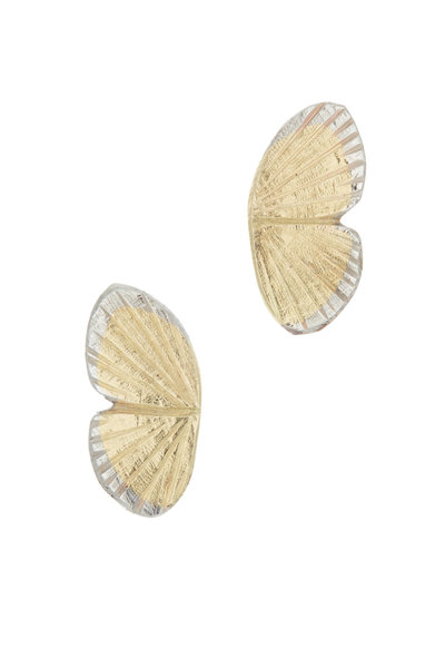 James Banks - Gold Baby Asterope Butterfly Earrings