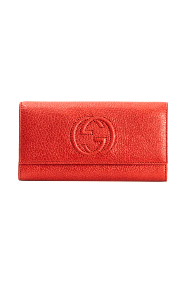 Continental Orange Leather Wallet