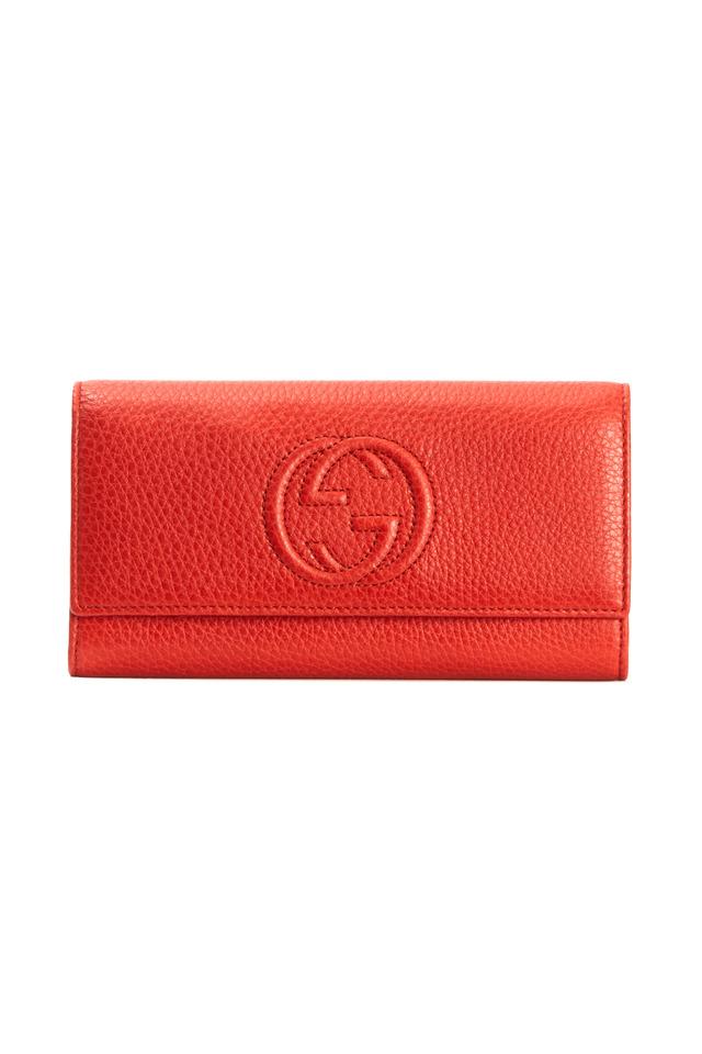 Continental Orange Leather Wallet