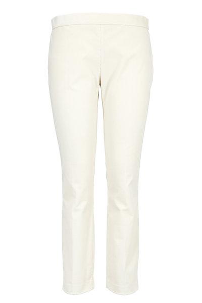 The Row - Laudette Natural Corduroy Crop Slim Pants