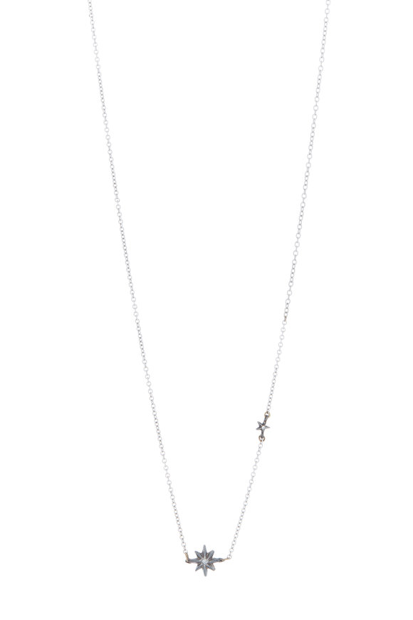 James Banks Yellow Gold Tiny Star Necklace