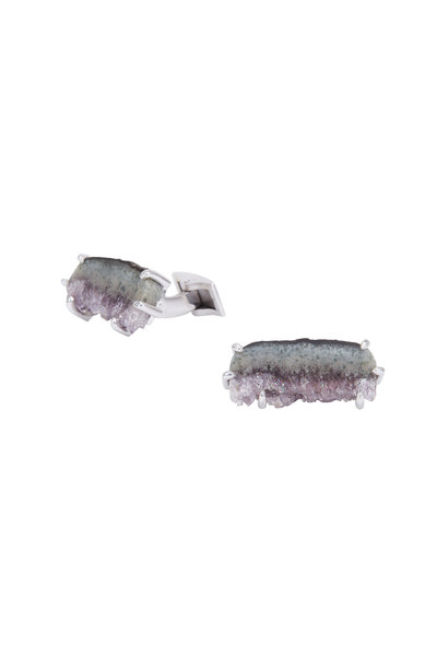 Spivey - Sterling Silver Stalactite Slice Cuff Links