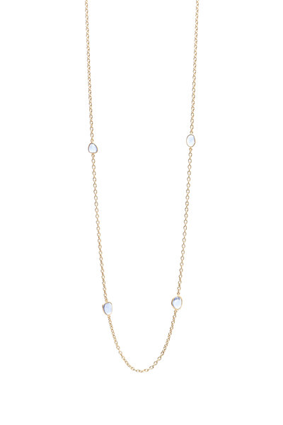 Yossi Harari - Yellow Gold Mica Blue Sapphire Wrap Necklace