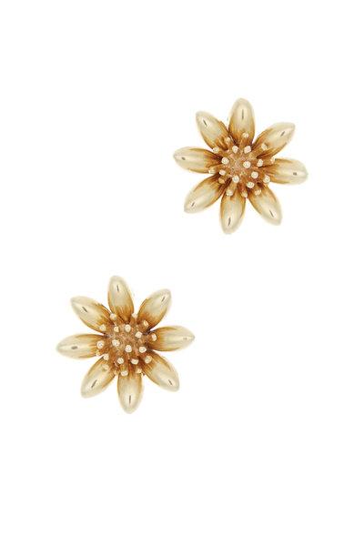 Fred Leighton - Yellow Gold Flower Earrings