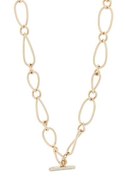 Pomellato - Pink Gold Brown Diamond Chain Necklace