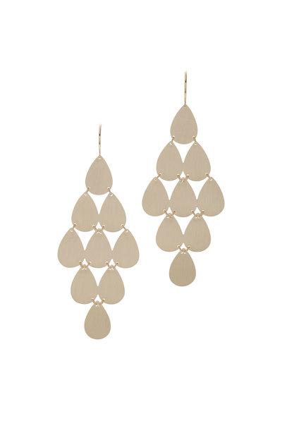 Irene Neuwirth - Yellow Gold Teardrop Chandelier Earrings