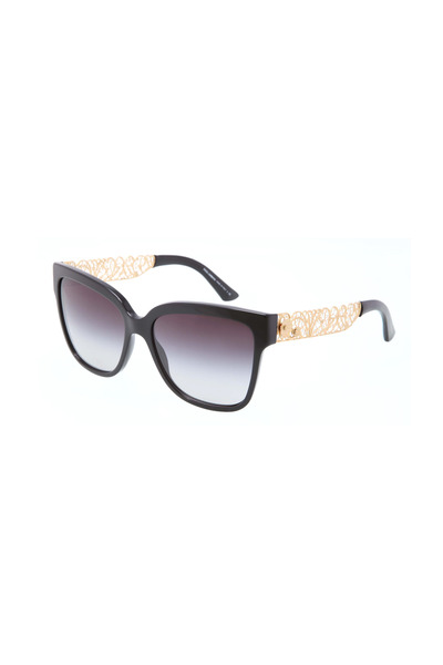 Dolce & Gabbana - Filigrana Black Square Sunglasses