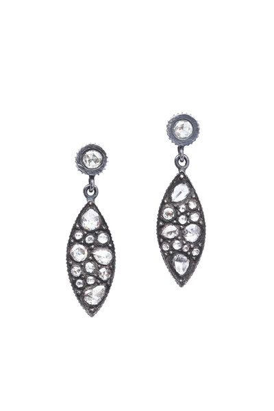 Yossi Harari - Sara Gold & Silver Mosaic Diamond Earrings