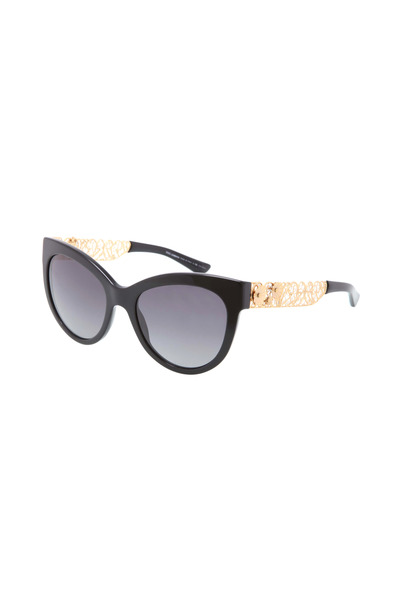 Dolce & Gabbana - Filigrana Black Cat-Eye Sunglasses