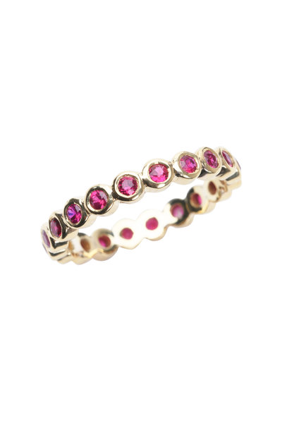 Temple St. Clair - 18K Yellow Gold Ruby Eternity Ring