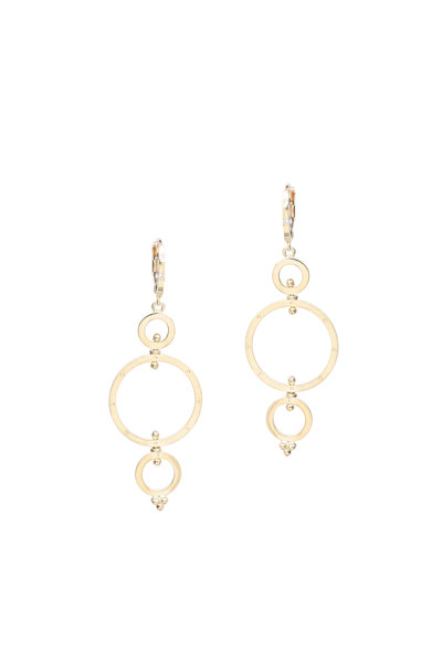 Temple St. Clair - 18K Yellow Gold Triple Spin Earrings