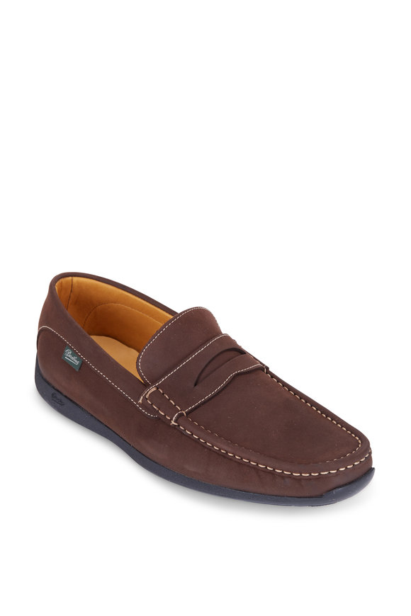 Paraboot Cordoue Dark Brown Leather Penny Loafer