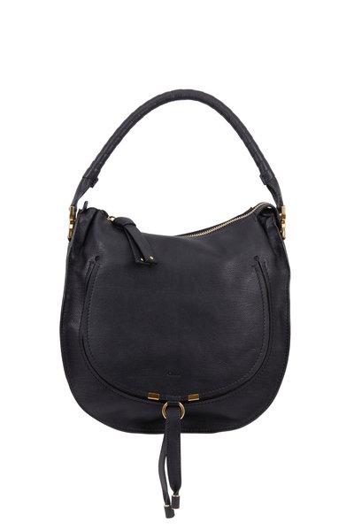 Chloé - Marcie Black Leather Medium Hobo Bag