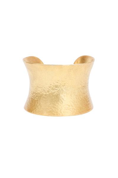 Yossi Harari - Yellow Gold Corset Cuff Bracelet