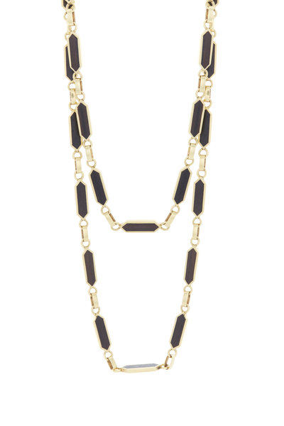 Fred Leighton - Yellow Gold & Wood Link Necklace