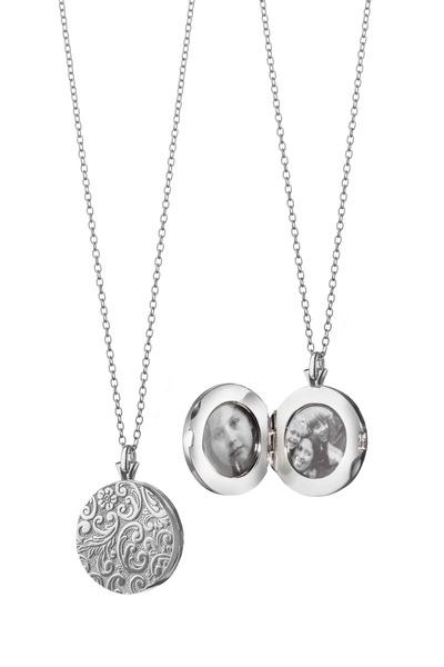 Monica Rich Kosann - Sterling Silver Floral Patterned Locket