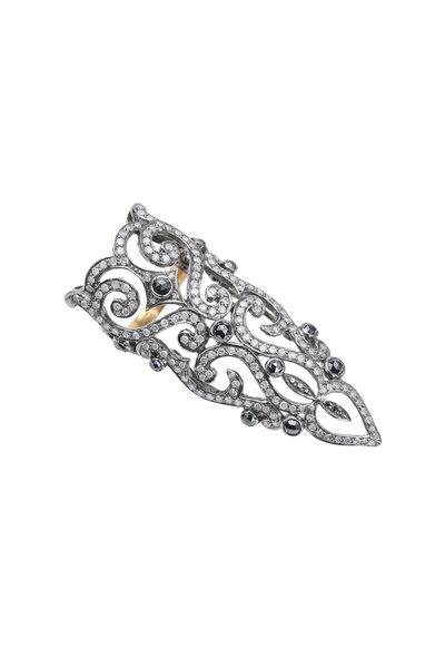 Loren Jewels - 18K Gold & Silver Pavé Diamond Ring