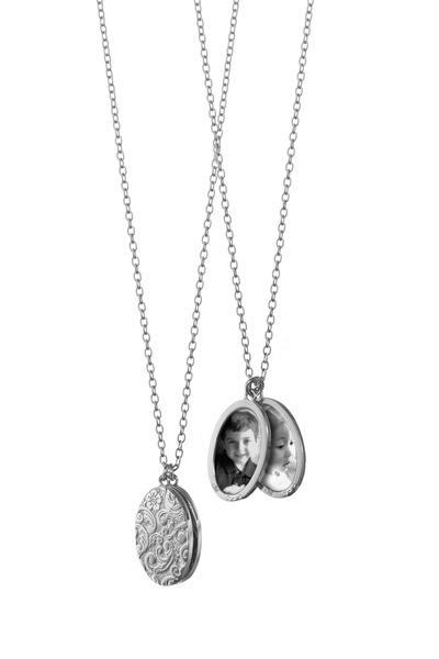 Monica Rich Kosann - Sterling Silver Floral Locket Necklace