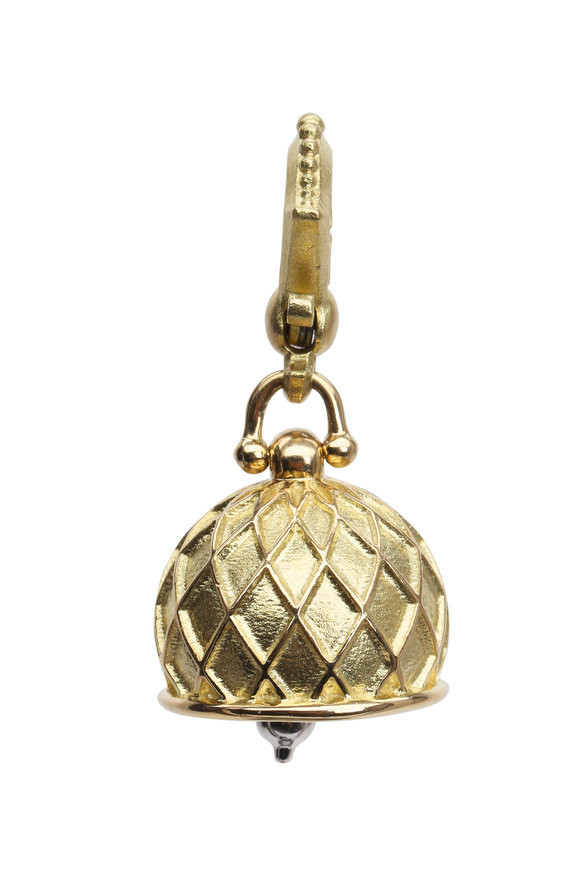 Paul Morelli Meditation Bells Yellow Gold Vaulted Pendant
