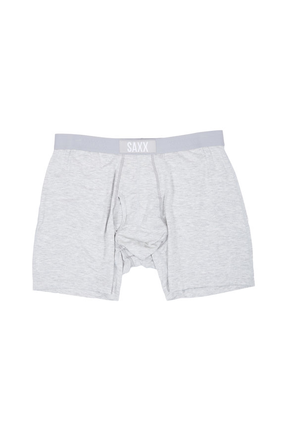 Saxx Underwear Ultra Light Heather Gray Boxer Briefs