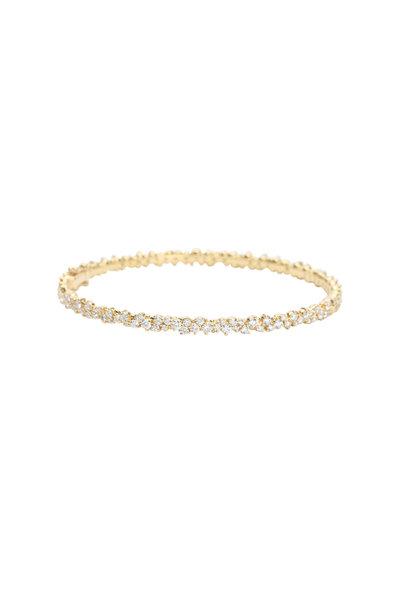 Paul Morelli - 18K Yellow Gold Confetti Diamond Bangle