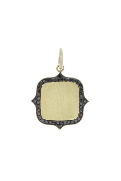 Sylva & Cie - Gold & Silver Black Diamond Initial Pendant