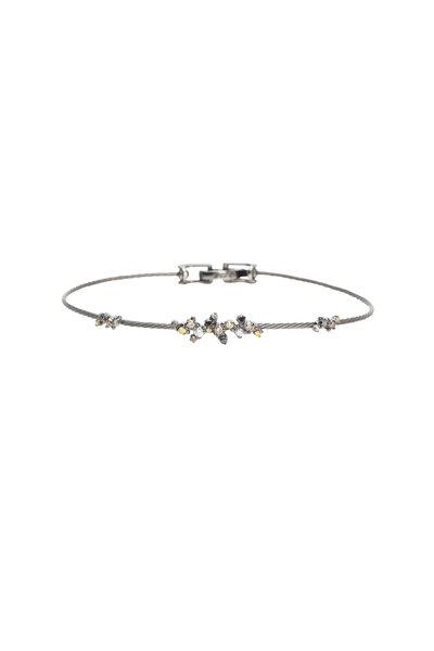 Paul Morelli - White Gold Multi Diamond Wire Bracelet