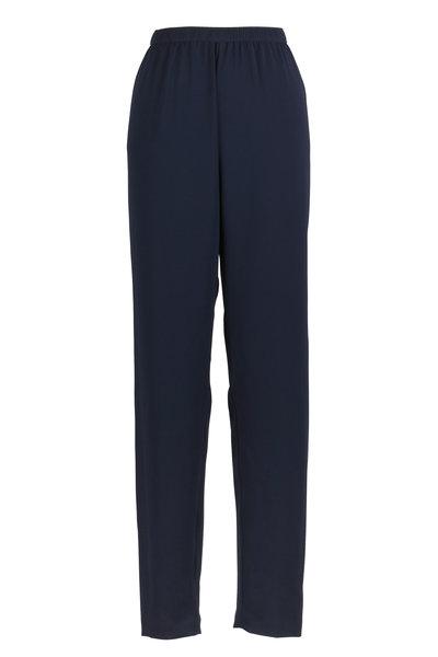 Peter Cohen - Navy Blue Petal Straight Leg Pants