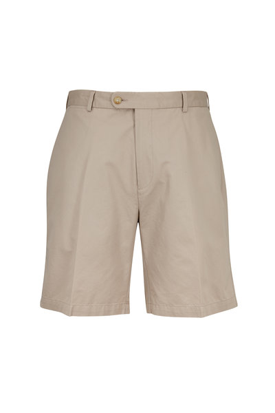Peter Millar - Khaki Washed Twill Shorts