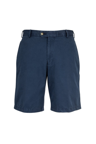 Peter Millar - Navy Blue Washed Twill Shorts