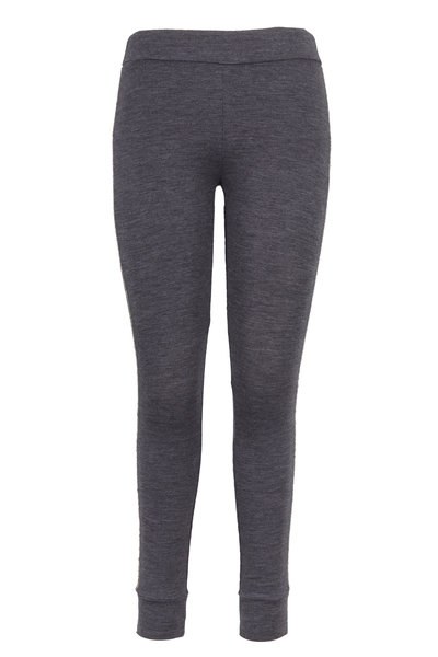 Brunello Cucinelli - Charcoal Gray Stretch Wool Jersey Monili Leggings