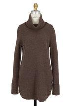 Bogner - Roxann Mocha Ribbed Turtleneck Sweater