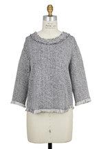 IRO - Bardy Black & White Tweed Top