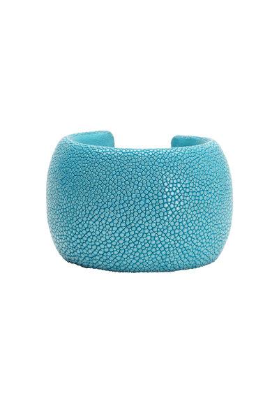 Kathleen Dughi - Turquoise Stingray Cuff Bracelet
