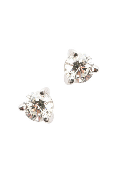 Kwiat - Platinum Diamond Stud Earrings