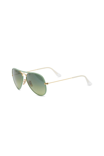 Ray Ban - Aviator Full Color Green Sunglasses