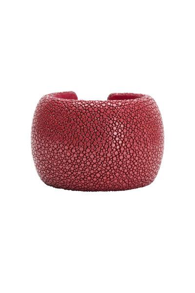 Kathleen Dughi - Bordeaux Stingray Raya Cuff Bracelet