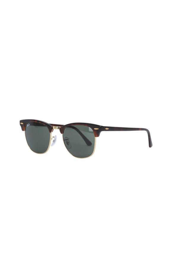 Ray Ban Dark Tortoise Clubmaster Sunglasses