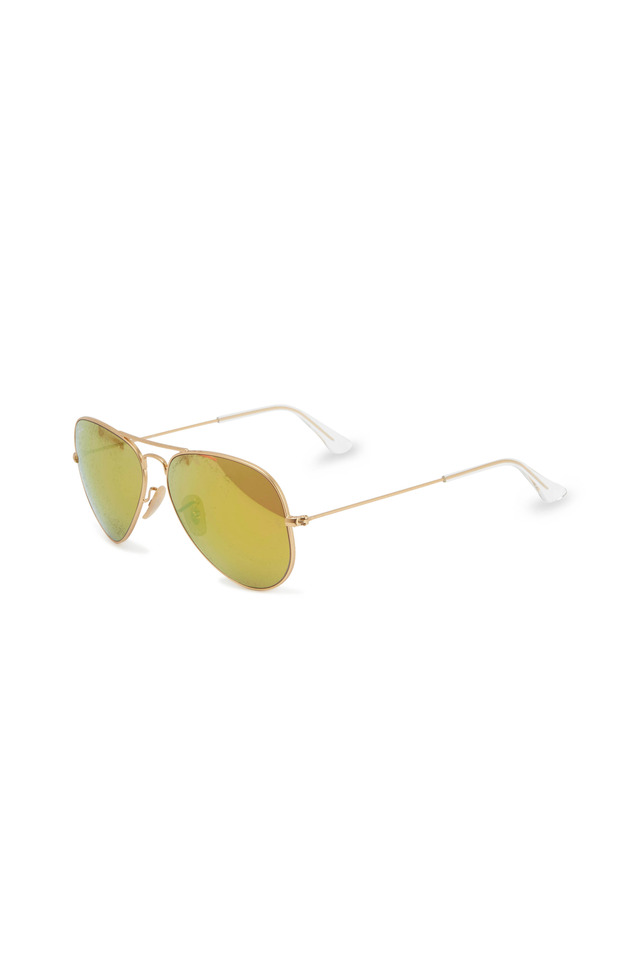 Aviator Large Gold Sunglasses