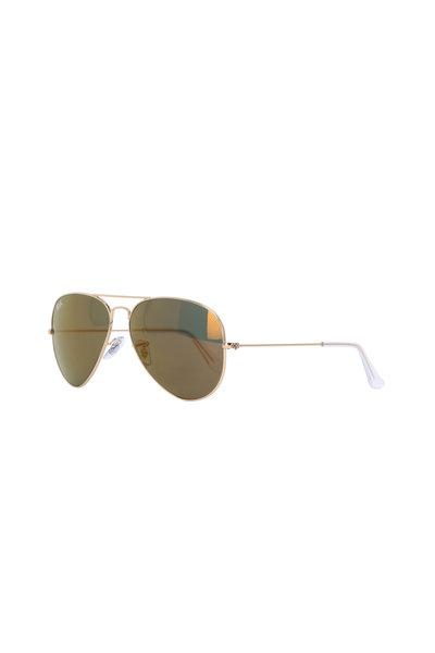 Ray Ban - Gold Aviator Sunglasses