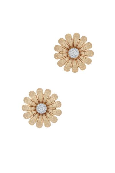 Emily & Ashley - Rose Gold Diamond Flower Earrings