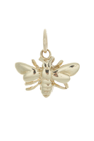 Emily & Ashley - Yellow Gold Bumble Bee Charm Pendant