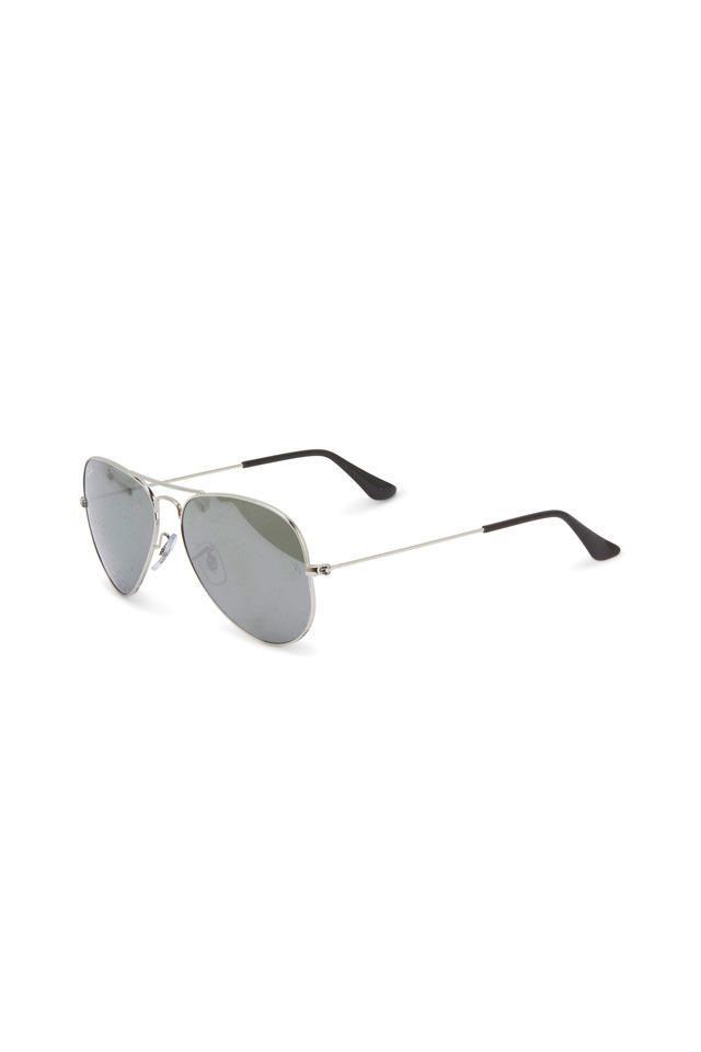 Aviator Large Silver Sunglasses