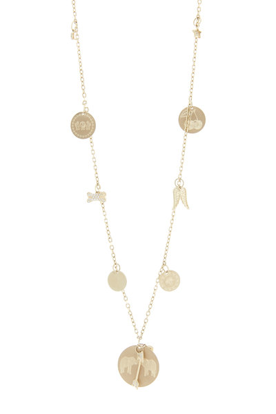 Emily & Ashley - Yellow Gold Charm Necklace