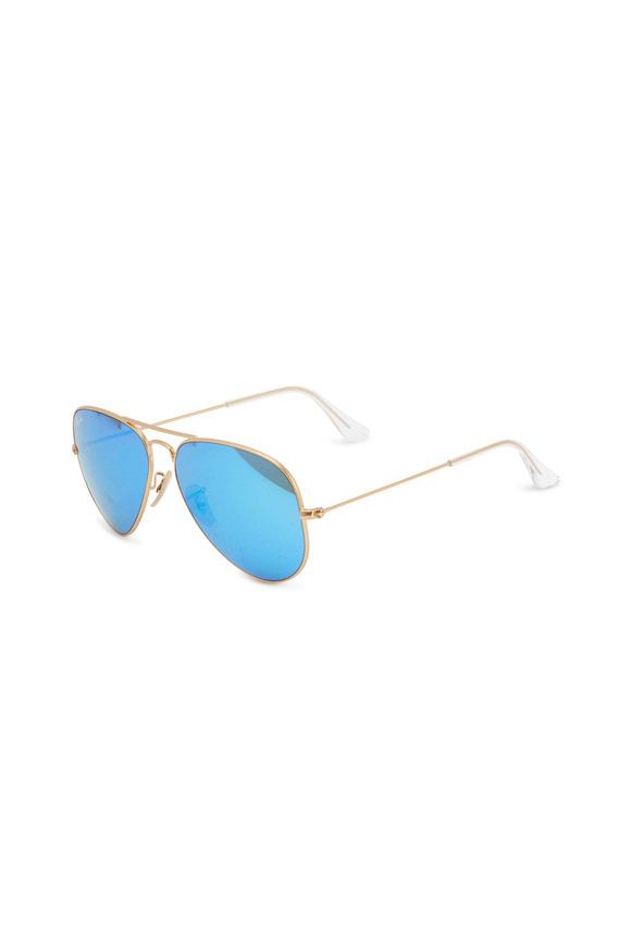Ray Ban Gold Aviator Sunglasses